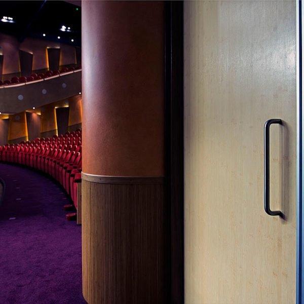 geluidswerende utiliteitsdeur in theater sneek